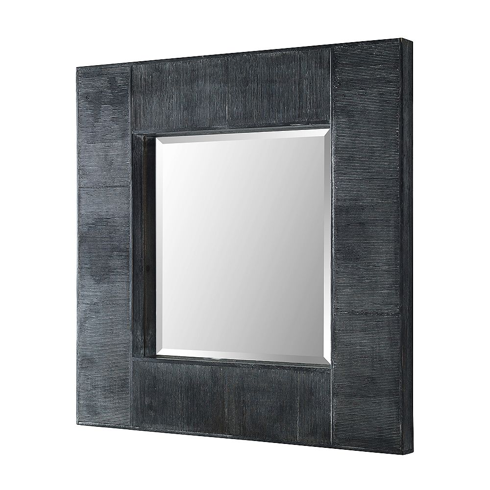 Welwick Designs Modern Industrial Square Wall Mirror