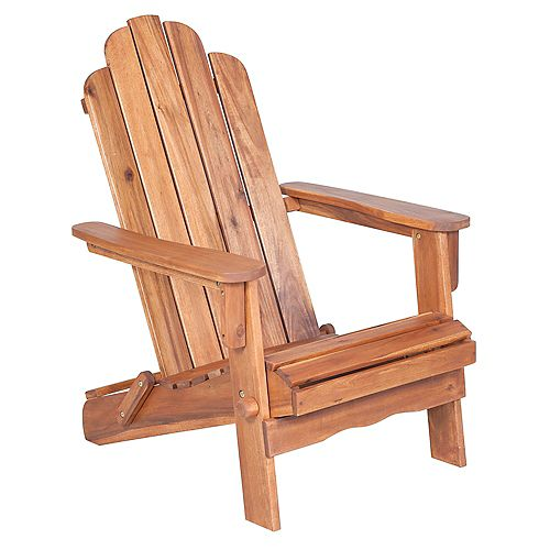Acacia Wood Adirondack Outdoor Patio Chair - Brown