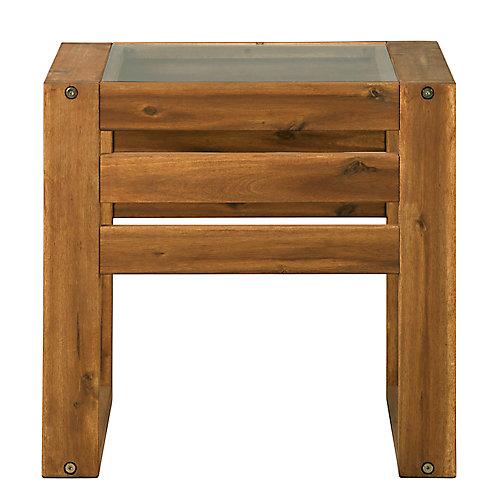Table d'extrémité pour patio moderne - Brun