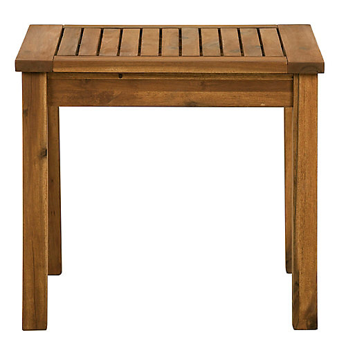 Patio Wood Side Table - Brown