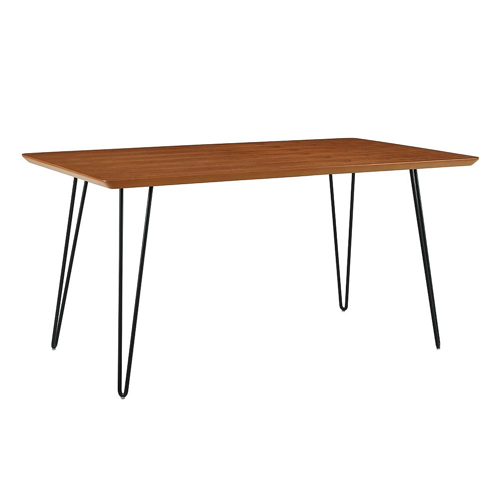 Welwick Designs 6 Person Mid Century Modern Rectangle Dining Table - Walnut