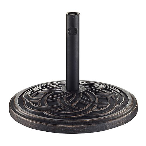 Base de parasol ronde à motifs de cercles - Bronze vieilli