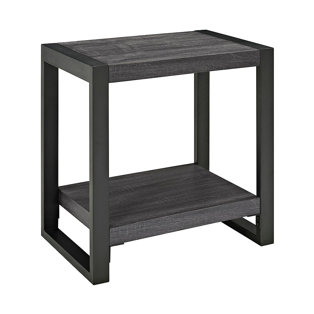 Welwick Designs angelo: HOME Industrial Side Table - Charcoal