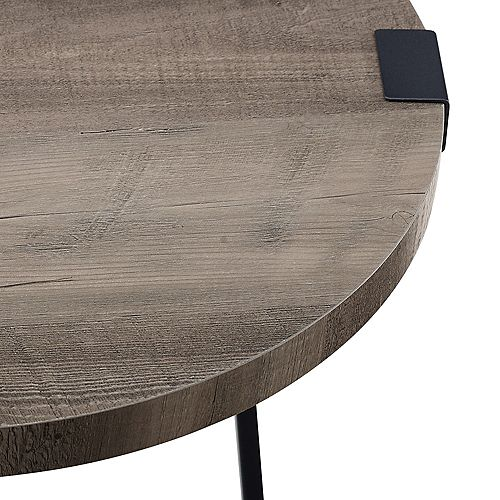 Rustic Industrial Fireplace TV Stand for TV's up to 44 inch- Dark Walnut