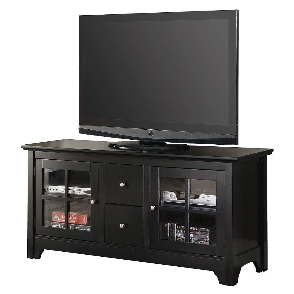 Welwick Designs Console pour téléviseur et rangement médias en bois de 132 cm (52 po) - Noir
