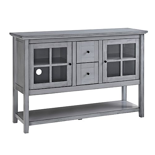 Rustic Farmhouse Buffet and Storage Cabinet - Grey