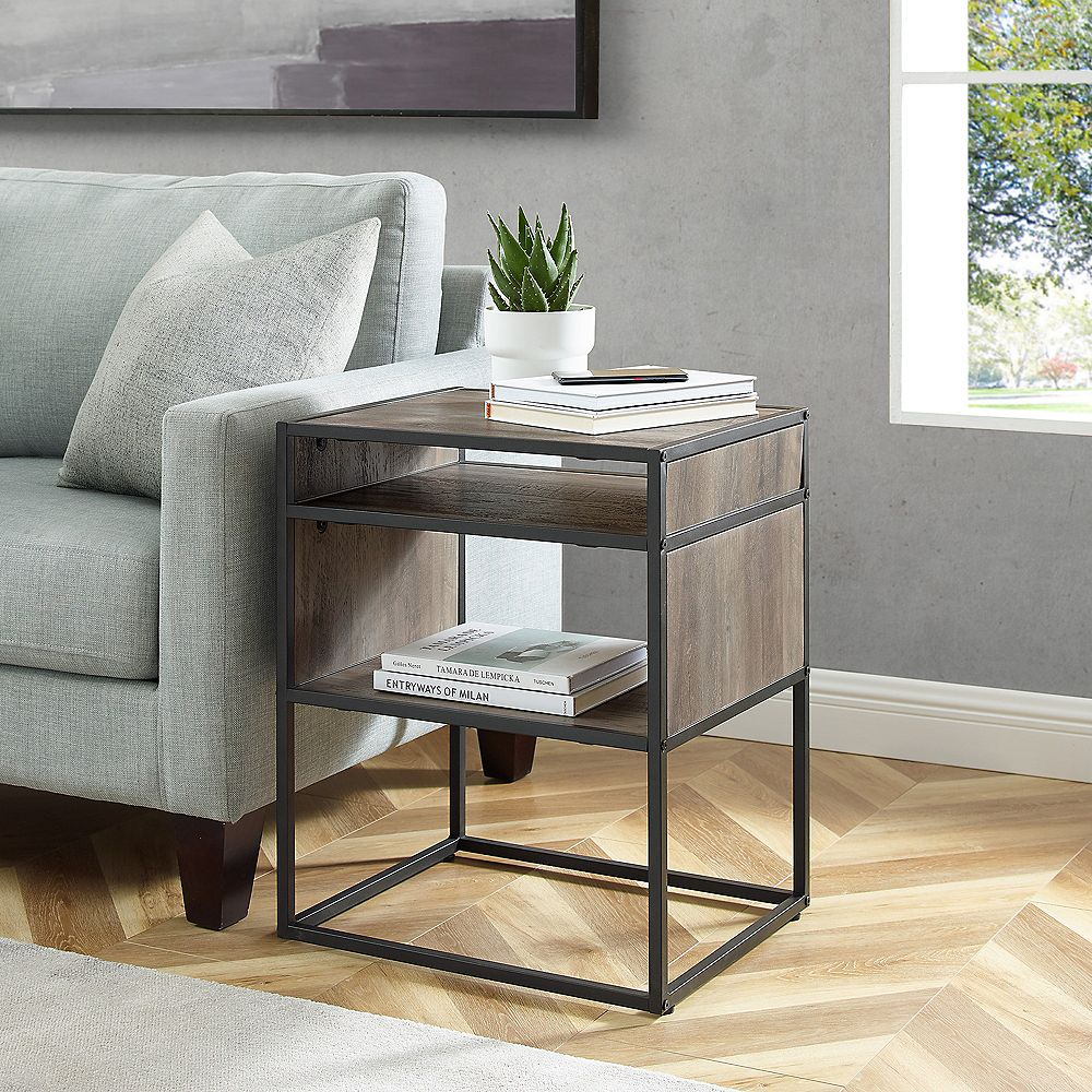 Welwick Designs Modern Fireplace TV Stand for TV's up to 56 inch - Black