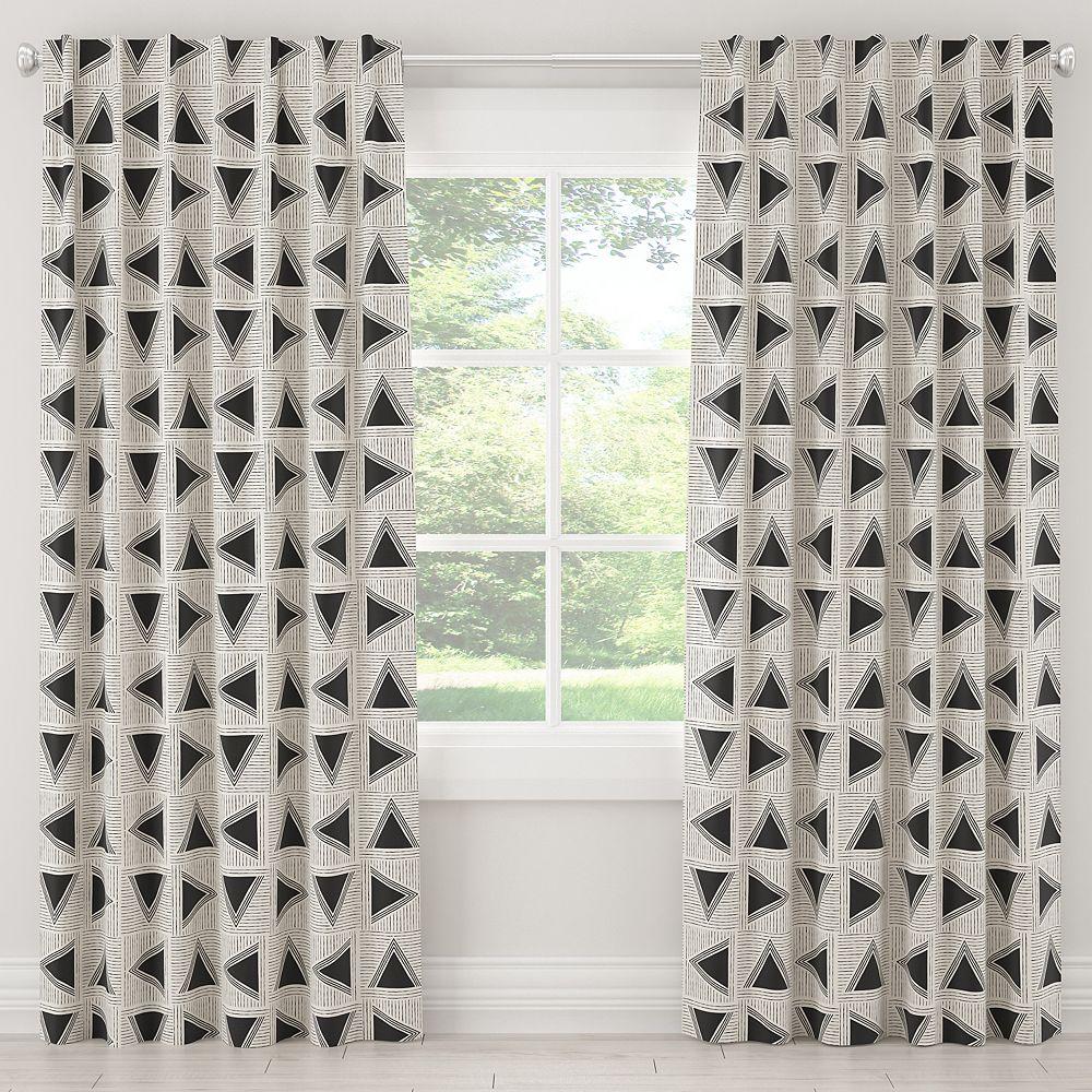 Skyline Furniture MFG Rideaux non doublés en Triangle Tile Black White 108L