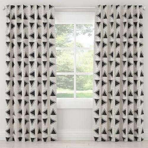 Rideaux doublés en Triangle Tile Black White 120L