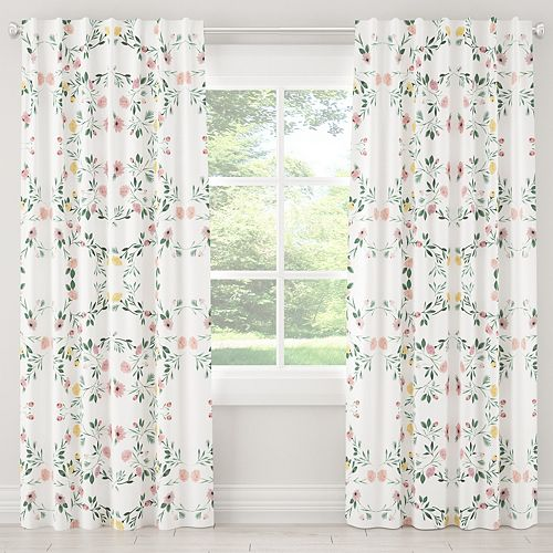 Blackout Curtain in Kaleidoscope Floral Blush