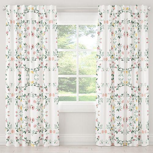 Rideaux doublés en Kaleidoscope Floral Blush 108L