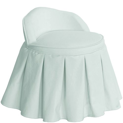 Skyline Furniture Kids Chair in Velvet Pool