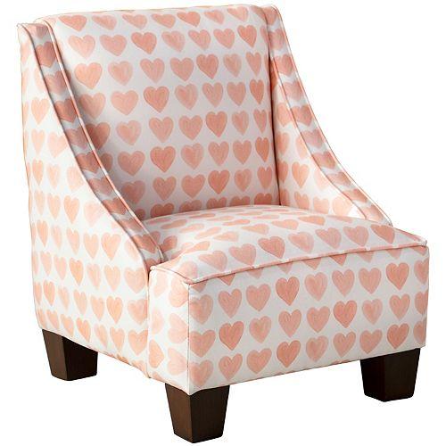 Skyline Furniture Kids Chair in Hearts Peach