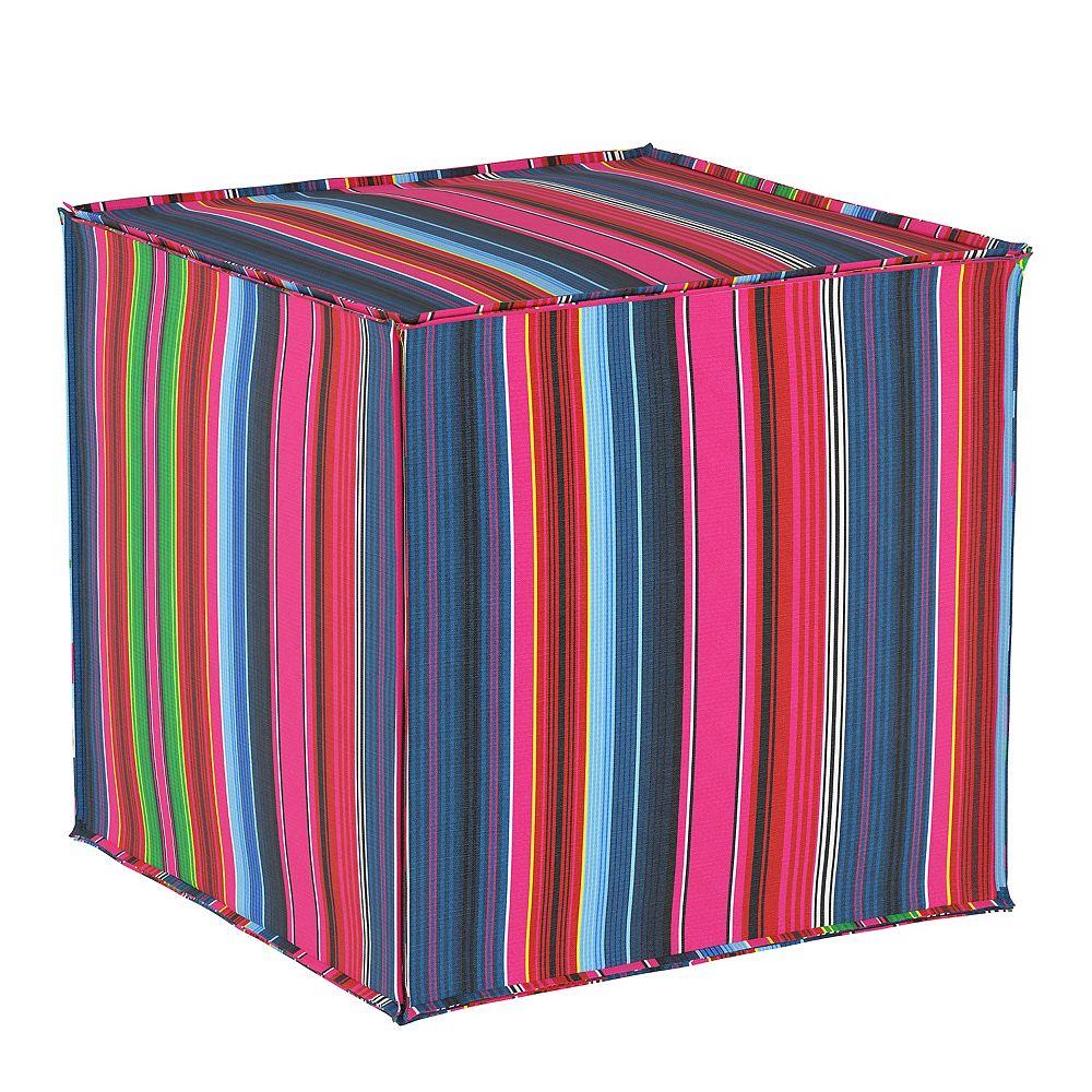 Skyline Furniture MFG Pouf en Serape Stripe Bright Multi