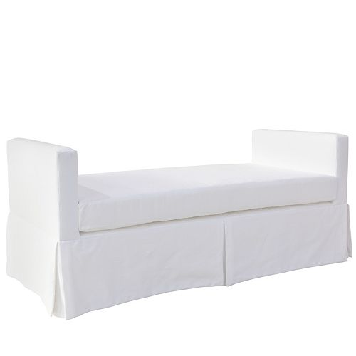Slipcover Daybed in Twill White