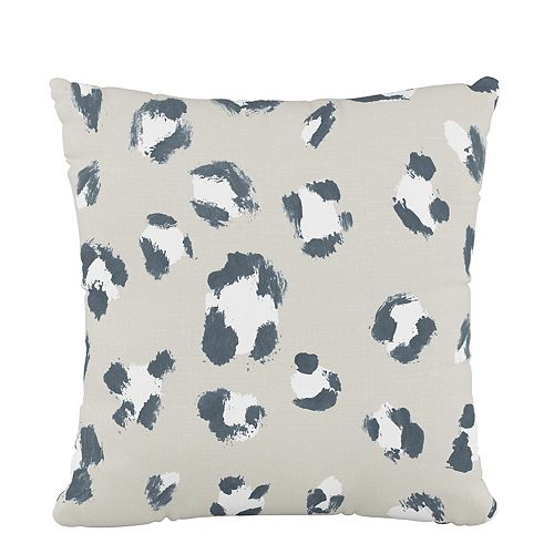 Coussin de 18 x 18 en Brush Cheetah Ivory