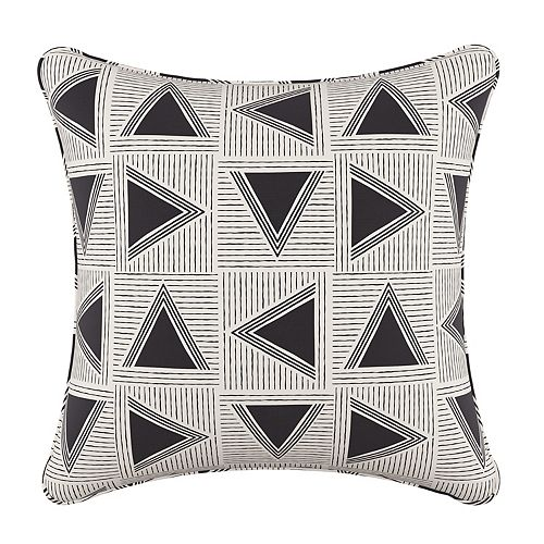 Coussin de 20 x 20 en Triangle Tile Black White