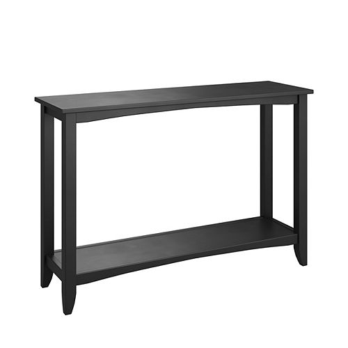 Two-Tiered Console Table, Black