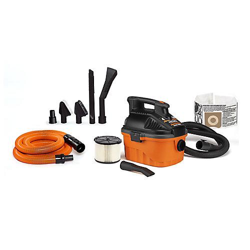 15 L (4 Gal.) 5.0 Peak HP Portable Wet Dry Vacuum with Auto Detailing Kit