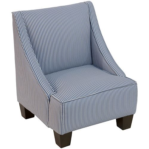 Skyline Furniture Skyline Furniture Chaise pour enfants en Oxford Stripe Navy