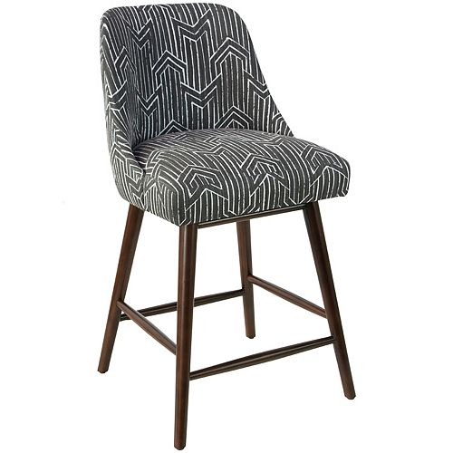 Tara Swoop Arm Counter Stool in Toledo Graphite Lux