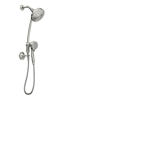 Attract Magnetix 6-function Handshower and Rainshower with Slidebar - Spot Resist Brushed Nickel