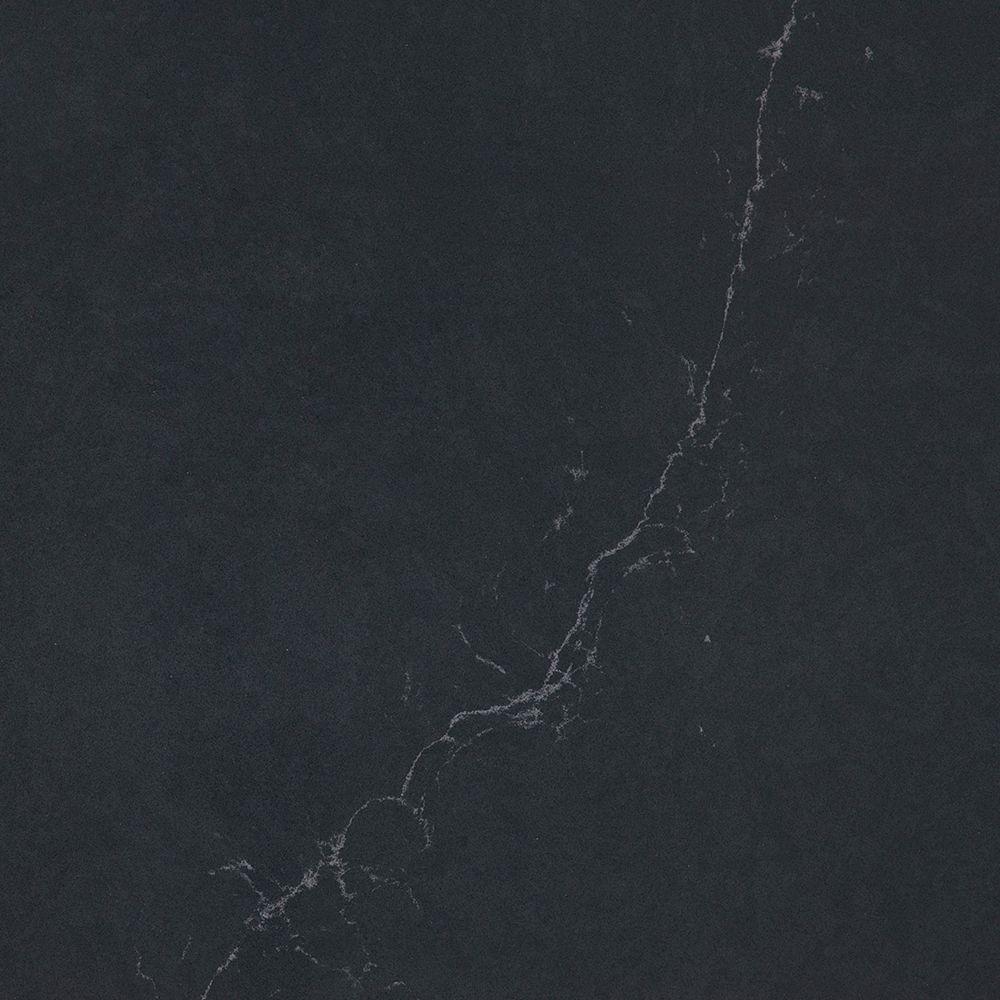 Silestone 4-inch x 8-inch Quartz Countertop Sample in Charcoal Soapstone Suede