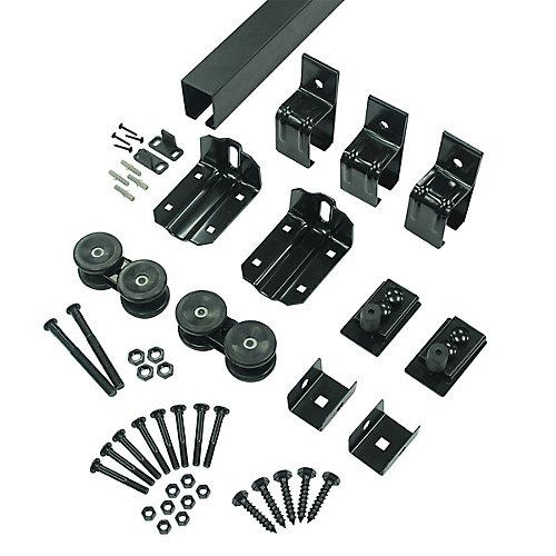 Single Box Track Hardware Kit, Sliding Barn Door system