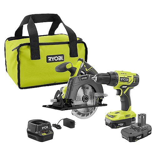 18V ONE+ Lithium-Ion Cordless Kit w/ Drill/Driver, Circular Saw, (2) 1.5 Ah Batteries and Charger