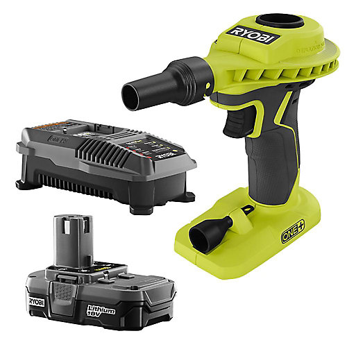 18V ONE+ Lithium-Ion Cordless High Volume Power Inflator Kit with 1.3 Ah Battery and Charger