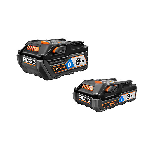 18V OCTANE Bluetooth 3.0 Ah Battery and 6.0 Ah Battery