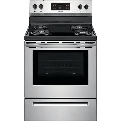 30-inch 5.3 cu. ft. Freestanding Electric Coil Range with Self Clean Oven in Stainless Steel