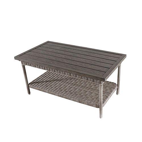 Beacon Park Grey Wicker Outdoor Patio Coffee Table