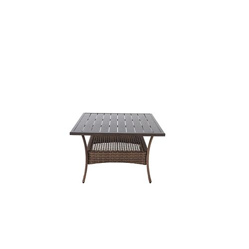 Beacon Park 38-inch x 28.5-inch Brown Steel Outdoor Patio High Coffee Dining Table