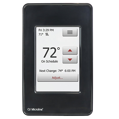 nSpire Touch 120V/240V Programmable Touch Thermostat with Floor Sensor, Black