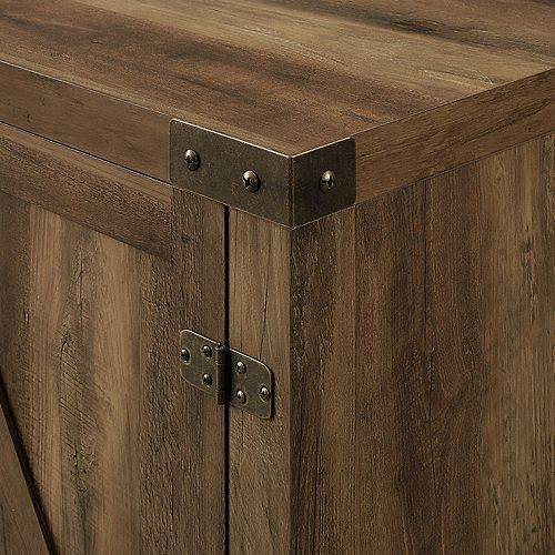 Farmhouse Barn Door TV Stand for TV's up to 64 inch - Reclaimed Barnwood