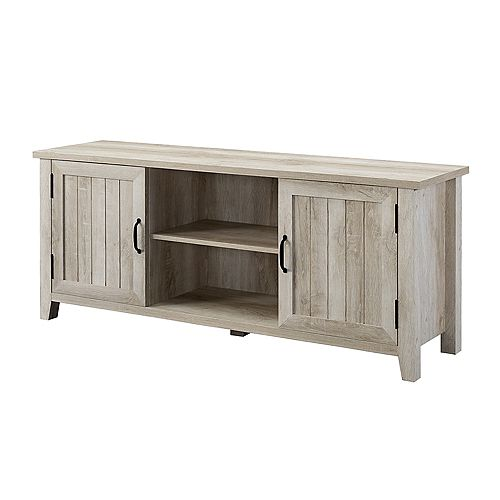 Modern Farmhouse TV Stand for TV's up to 64 inch- White Oak
