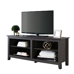 Columbus 58-inch Charcoal MDF TV Stand 60-inch with Adjustable Shelves