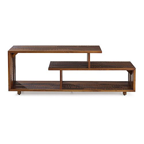 Rustic Modern Open Shelf TV Stand for TV's up to 66 inch - Amber
