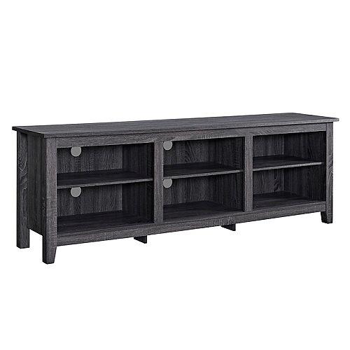 Minimal Farmhouse TV Stand for TV's up to 78 inch- Charcoal