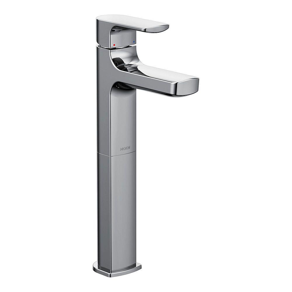 moen rizon one-handle high arc vessel bathroom faucet in