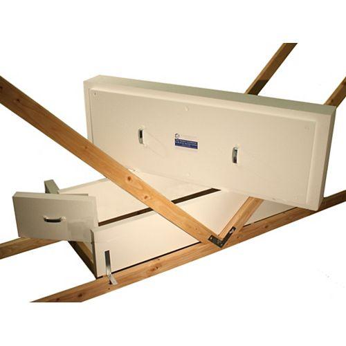 Le Gardien d'Energie pour une Echelle de Grenier entre les appuis verticals R-20