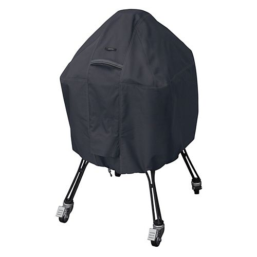 Classic Accessories Ravenna Black Kamado Ceramic Grill Cover - Outdoor Grill Cover with Water Resistant Fabric, Large