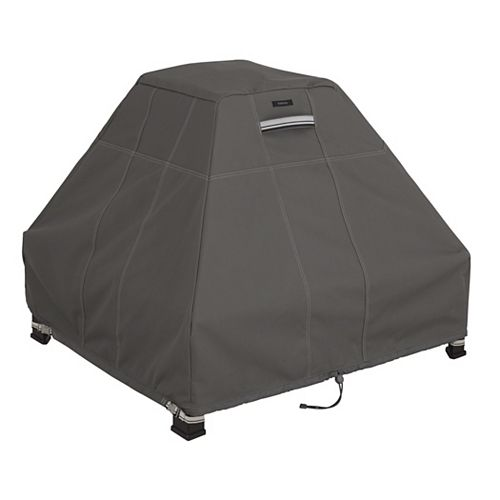 Ravenna Stand-Up Fire Pit Cover - Outdoor Cover with Water Resistant Fabric