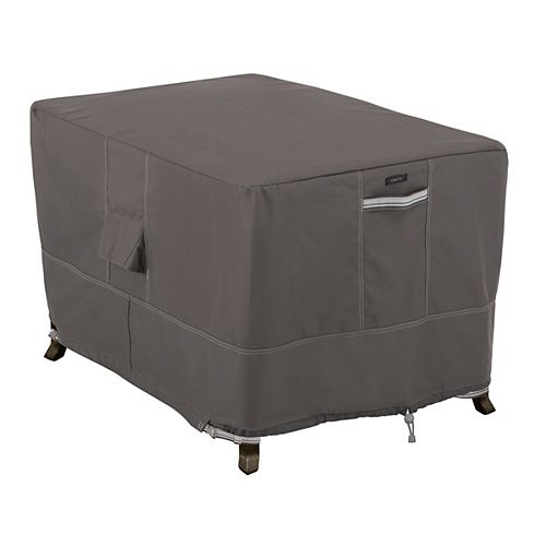 Ravenna 40 inch Rectangular Fire Pit Table Cover - Outdoor Cover with Water Resistant Fabric