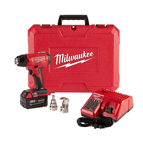 M18 18V Lithium-Ion Cordless Compact Heat Gun Kit W/(1) 5.0Ah Batteries, Charger, Hard Case