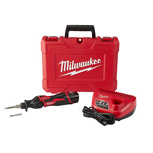 M12 12V Lithium-Ion Cordless Soldering Iron Kit W/ (1) 1.5Ah Batteries, Charger & Hard Case