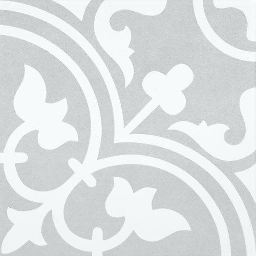 Carreau pour murs et sols Arte Midelt, 9 3/4 po x 9 3/4 po, 10,76 pi2/caisse, porcelaine, gris