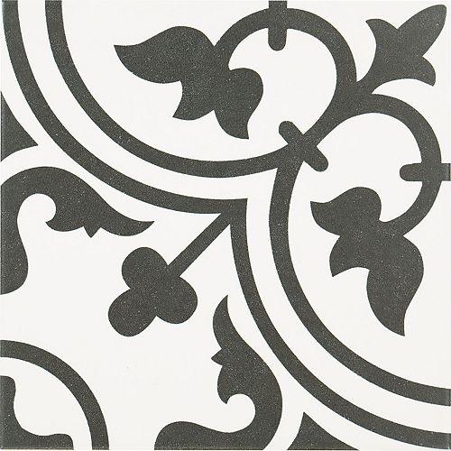 Carreau pour murs et sols Arte Midelt, 10 po x10 po, 10,76 pi2/caisse, porcelaine, blanc