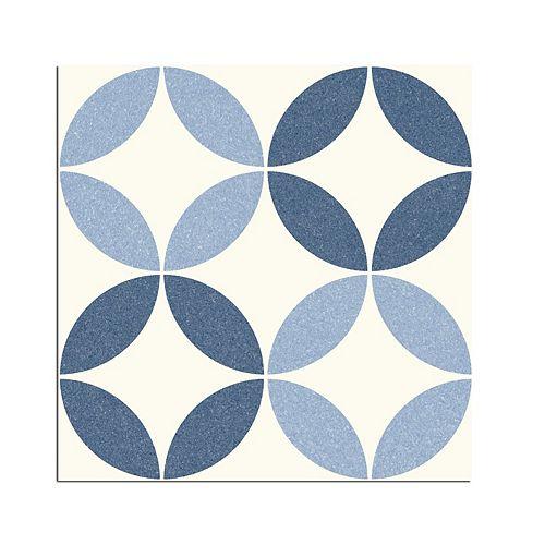 Arte Nador Blue 9-3/4-Inch X 9-3/4-Inch Porcelain Floor & Wall Tile (10.76 Sq. Ft./ Case)